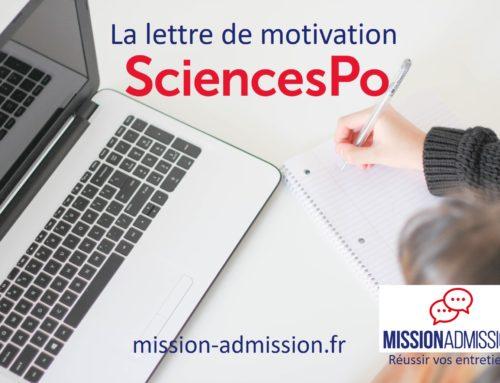 La lettre de motivation à Sciences Po Paris : mes conseils en moins de 1000 mots